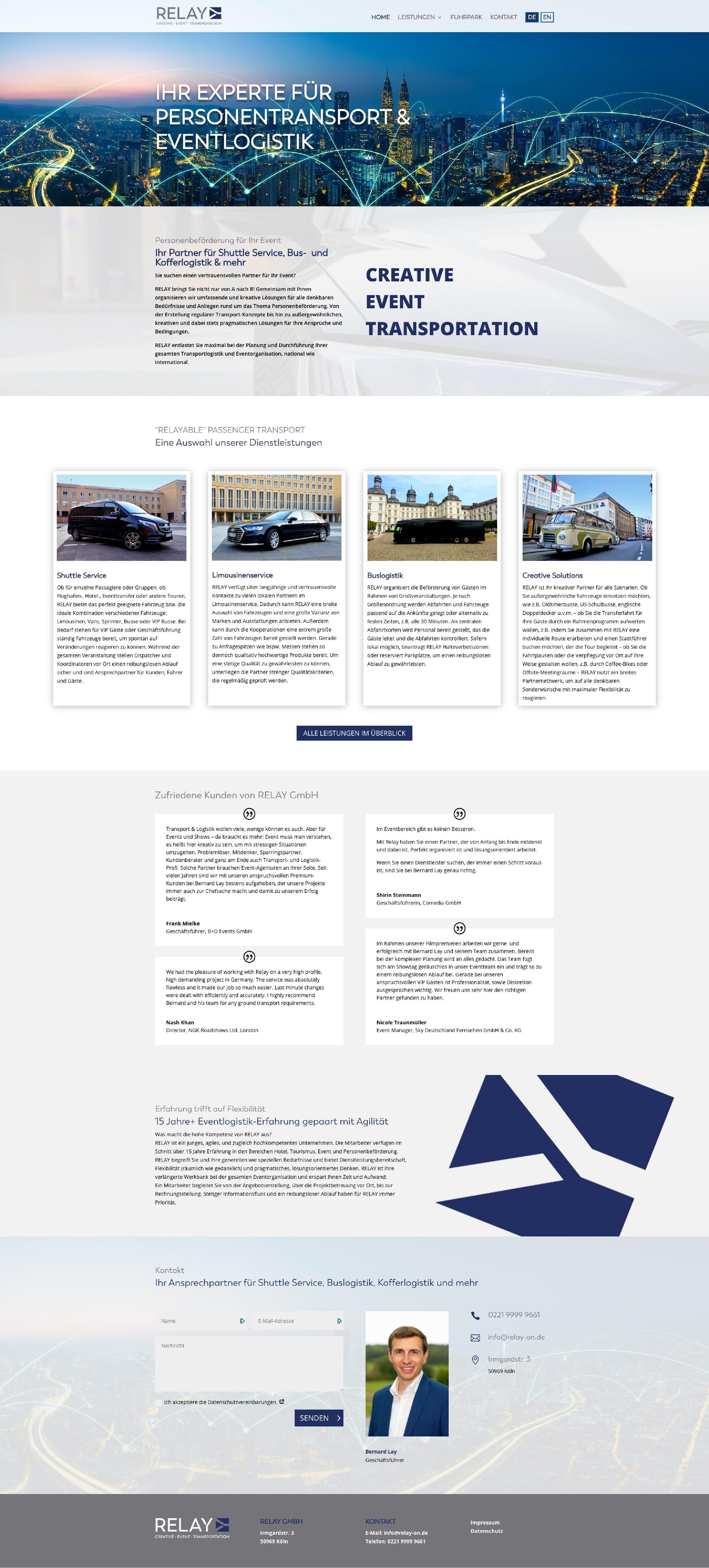 Relay GmbH Website