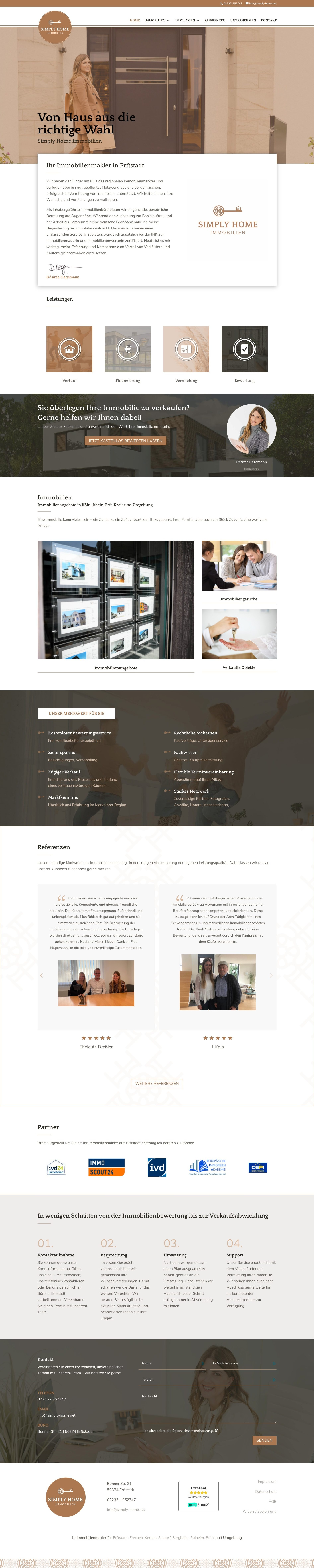 Simply Home Immobilien Website
