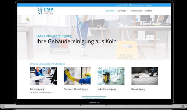EMA Gebaeudereinigung Webdesign