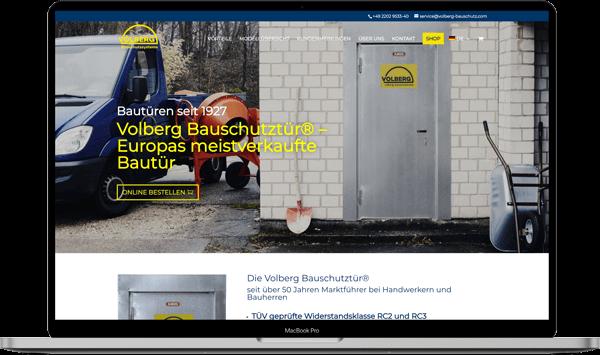 Volberg Bauschutz Webdesign